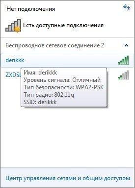 Выбор точки доступа Wifi